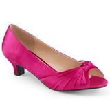 Fuksja Satyna 5 cm FAB-422 duże rozmiary szpilki buty