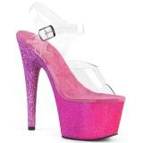 Fuksja glitter 18 cm Pleaser ADORE-708OMBRE buty do tańca pole dance