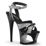 Glitter 18 cm Pleaser MOON-728 Platform High Heels Buty