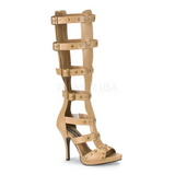 Kremy 11,5 cm GLADIATOR-208 sandały gladiatorki do kolan damskie
