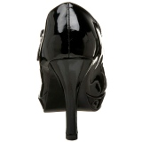 Lakierowane 10 cm CONTESSA-50X szpilki na szeroką stopę dla męskie