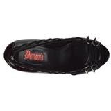 Lakierowane 13,5 cm PIXIE-18 buty czółenka peep toe na obcasie
