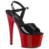 Lakierowane 18 cm ADORE-709 Czerwone Platformie high heels obuwie