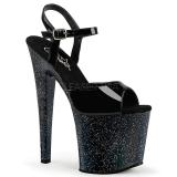 Lakierowane 19 cm Pleaser TABOO-709MG blasku buty na wysokich obcasach