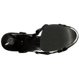 Lakierowane 20 cm FLAMINGO-831 Platformie buty high heels