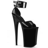 Lakierowane 23 cm INFINITY-975 Platformie buty high heels