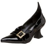 Lakierowane 6,5 cm SALEM-06 buty szpilki na czarownica