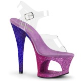 Lawenda glitter 18 cm Pleaser MOON-708OMBRE buty do tańca pole dance