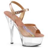 Miedź 15 cm KISS-209BHG Platformie buty high heels