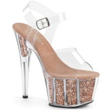 Miedź glitter 18 cm Pleaser ADORE-708G buty do tańca pole dance