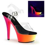Neon 15 cm Pleaser RAINBOW-208UV buty do tańca pole dance