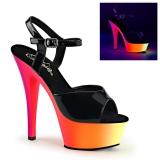 Neon 15 cm Pleaser RAINBOW-209UV buty do tańca pole dance