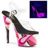 Neon 18 cm Pleaser ADORE-708UVR Platformie buty high heels