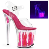Neon 20 cm Pleaser FLAMINGO-808FLM buty do tańca pole dance