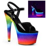 Neon glitter 18 cm Pleaser ADORE-709WR buty do tańca pole dance