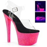 Neon glitter 18 cm Pleaser SKY-308UVG buty do tańca pole dance
