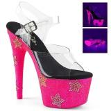 Neon kryształ kamieńie 18 cm ADORE-708STAR buty do tańca pole dance