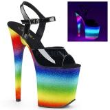 Neon tęcza 20 cm FLAMINGO-809WR buty do tańca pole dance