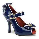 Niebieski 11,5 cm ANCHOR-22 buty damskie na wysokim obcasie