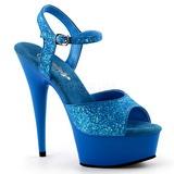 Niebieski Neon 15 cm Pleaser DELIGHT-609UVG Wysokie obcasy platformie