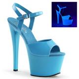 Niebieski Neon 18 cm Pleaser SKY-309UV Wysokie obcasy platformie