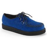 Niebieski Zamsz 2,5 cm CREEPER-602S Creepers Buty Mężczyzn