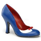 Niebieskie 10,5 cm SMITTEN-05 buty damskie na wysokim obcasie