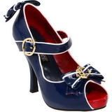 Niebieskie 11,5 cm ANCHOR-22 buty damskie na wysokim obcasie
