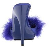 Niebieskie 13 cm POISE-501F pióra marabuta Klapki