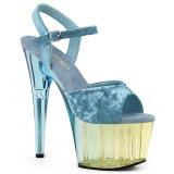 Niebieskie Aksamit 18 cm ADORE-709MCT sandały do tańca pole dance