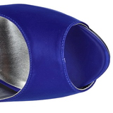 Niebieskie Kamieniami 13 cm LOLITA-08 Szpilki Wieczorowe z piętą