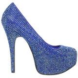 Niebieskie Kamieniami 14,5 cm Burlesque TEEZE-06R czółenka na wysokim obcasie