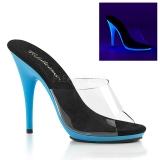 Niebieskie Neon 13 cm POISE-501UV Platformie Klapki