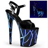 Niebieskie Neon 20 cm Pleaser FLAMINGO-809NLB Wysokie obcasy platformie