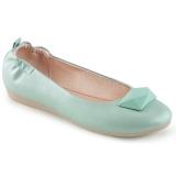 Niebieskie OLIVE-08 baleriny płaskie buty damskie
