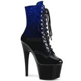 Niebieskie glitter 18 cm ADORE-1020OMB botki do tańca pole dance