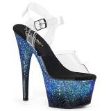Niebieskie glitter 18 cm ADORE-708SS buty do tańca pole dance