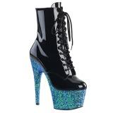 Niebieskie glitter 18 cm Pleaser ADORE-1020LG botki do tańca pole dance