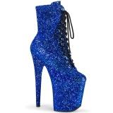Niebieskie glitter 20 cm FLAMINGO-1020GWR botki do tańca pole dance