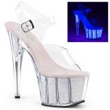 Opal glitter 18 cm Pleaser ADORE-708UVG buty do tańca pole dance