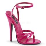 Pink 15 cm Devious DOMINA-108 Wysokie sandały na szpilce