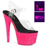 Pink 18 cm ADORE-708UVG Sandały na wysokim obcasie Neon