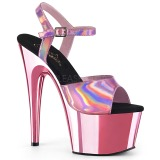 Pink 18 cm ADORE-709HGCH Hologram platformy wysokie obcasy