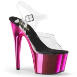 Pink 18 cm KISS-209 Chrom Wysokie obcasy platformie