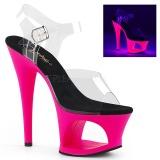 Pink 18 cm MOON-708UV Sandały na wysokim obcasie Neon