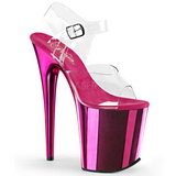 Pink 20 cm KISS-209 Chrom wysokie obcasy na platformie
