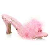 Pink 7,5 cm FLAPPER-01F pióra marabuta Klapki