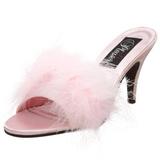 Pink 8 cm AMOUR-03 pior marabuta Klapki