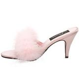 Pink 8 cm AMOUR-03 pióra marabuta Klapki