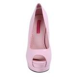 Pink Lakierowane 13,5 cm BELLA-12 Czółenka na wysokim obcasie